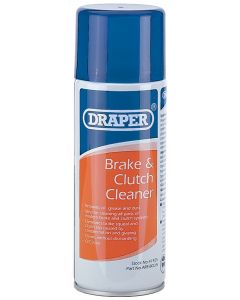 Draper 400Ml Brake And Clutch Cleaner Spray - Restricted Shipping