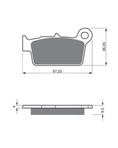 GoldFren 187 Rear Brake Pads